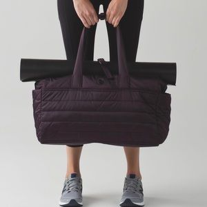 lululemon athletica Bags - Lululemon Get Lost Duffle Black Cherry OS